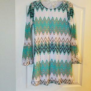 Tacera bell sleeve mini dress